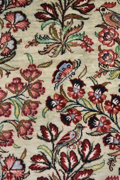 Perzisch tapijt ghoum zijde fijn geknoopt