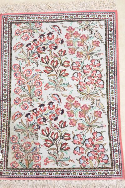 Perzisch tapijt ghoum zijde 77 x 54 cm