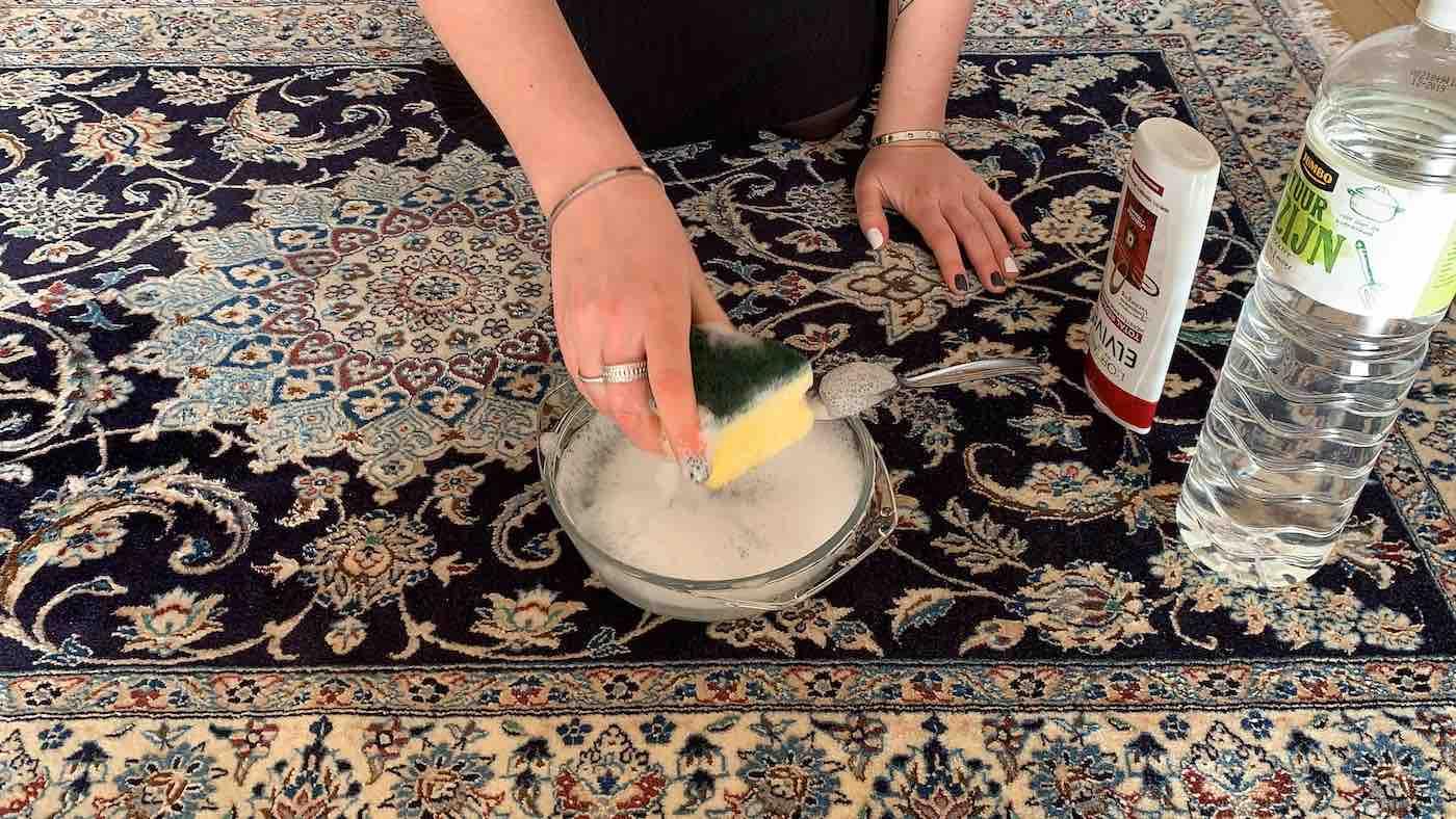 Perzisch tapijt reinigen azijn
