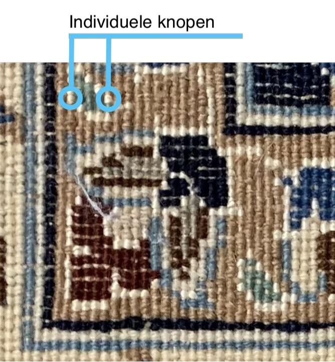 Knopen in een Perzisch tapijt