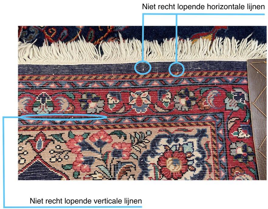 Perzisch tapijt herkennen rechte lijnen