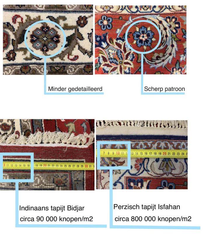 knoopdichtheid perzische tapijten