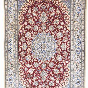 Perzisch tapijt nain met zijde