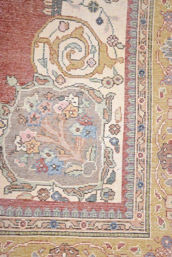Perzisch tapijt Tabriz Tabatabai achterkant