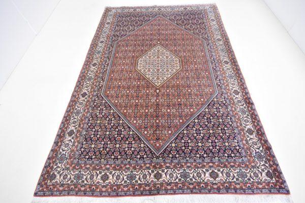 Perzisch vloerkleed bidjar01 bruin en rood