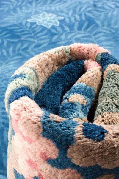 7925 china blauw handgeknoopt tapijt 13