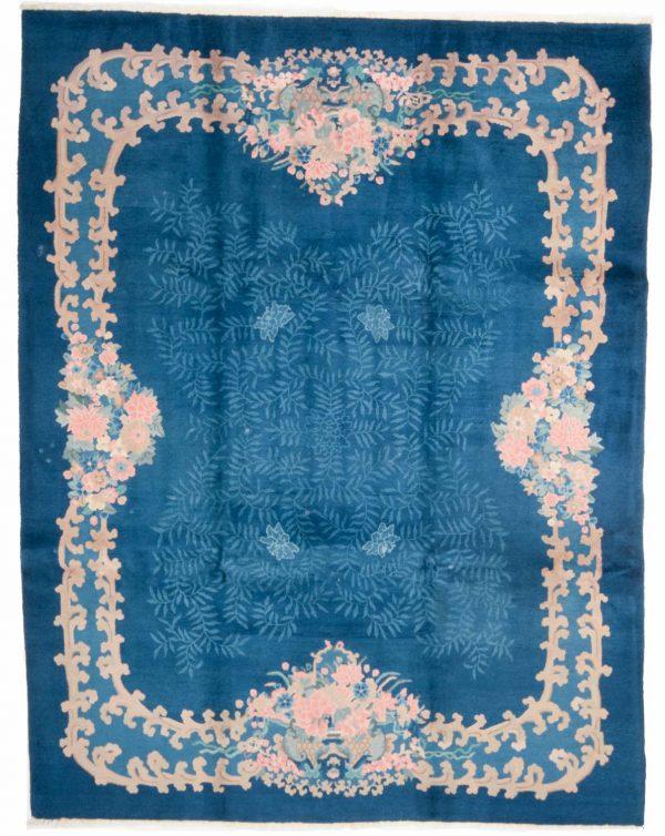 7925 china blauw handgeknoopt tapijt 14