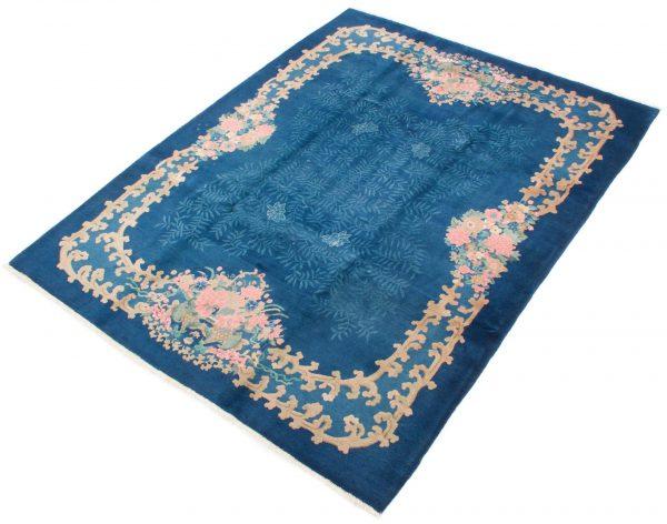 7925 china blauw handgeknoopt tapijt 4