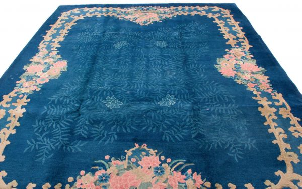 7925 china blauw handgeknoopt tapijt 5