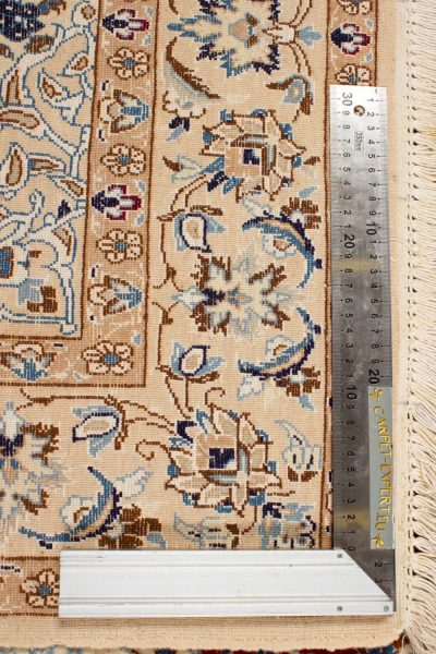 Perzisch tapijt Nain 1025111 knoopdichtheid