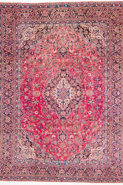 Vintage Perzisch vloerkleed Sarough 352 X 264 cm10