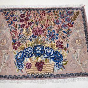Zijde tapijt Ghoum 7566 1