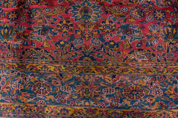 handgeknoopt tapijt sarough 5855 rood amerikaans wol 11