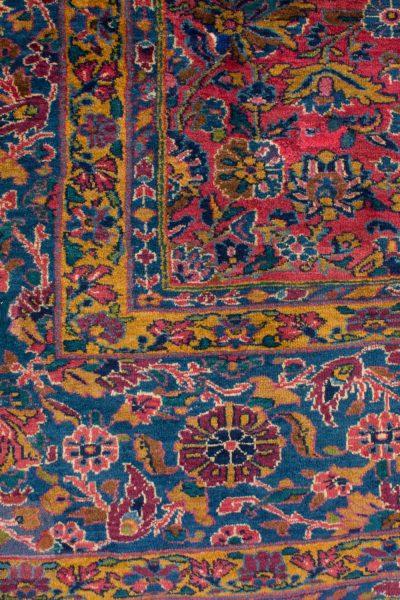 handgeknoopt tapijt sarough 5855 rood amerikaans wol 12