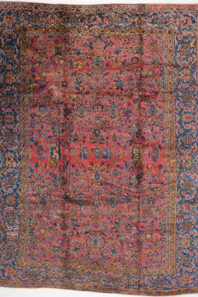 handgeknoopt tapijt sarough 5855 rood amerikaans wol 16
