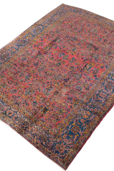 handgeknoopt tapijt sarough 5855 rood amerikaans wol 2