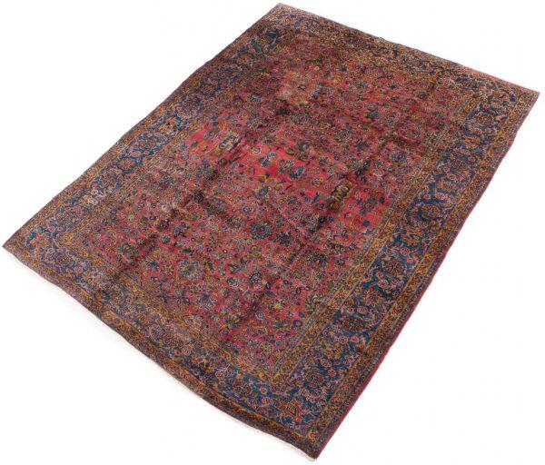 handgeknoopt tapijt sarough 5855 rood amerikaans wol 3