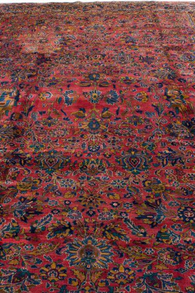 handgeknoopt tapijt sarough 5855 rood amerikaans wol 4