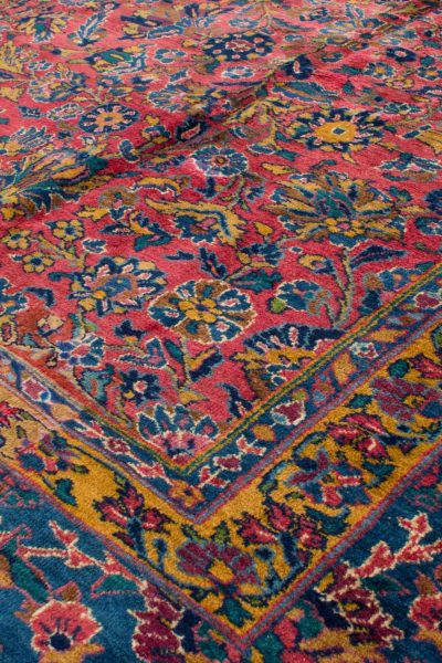 handgeknoopt tapijt sarough 5855 rood amerikaans wol 8