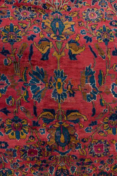 handgeknoopt tapijt sarough 5855 rood amerikaans wol 9