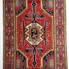 perzisch tapijt meshkin 10253 handgeknoopt rood