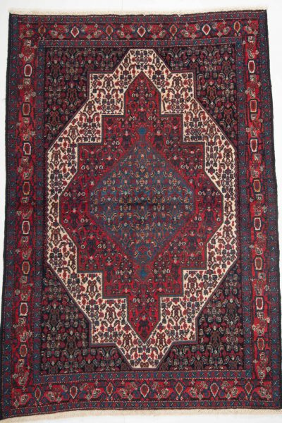 perzisch tapijt senneh 10254 rood handgeknoopt