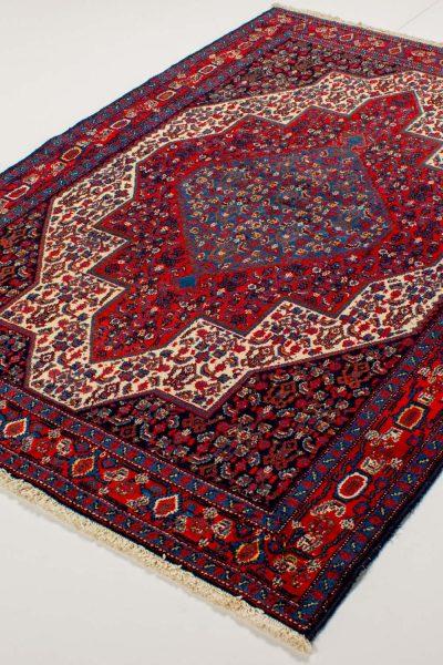 perzisch tapijt senneh 10254 rood handgeknoopt1