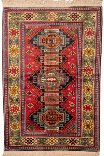 Handgeknoopt tapijt Kazak 10265 wol