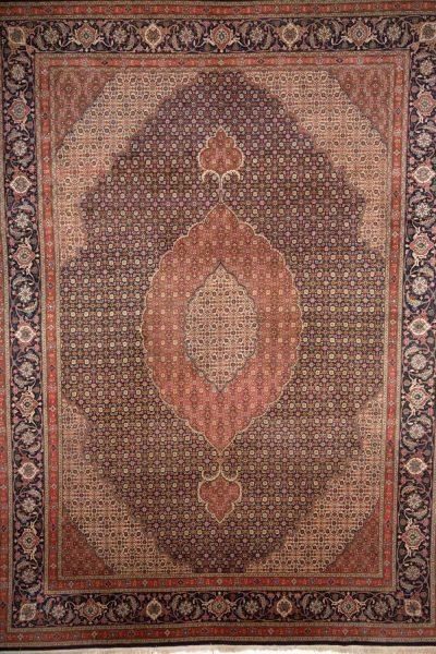 Handgeknoopt perzisch tapijt tabriz mahi 777817