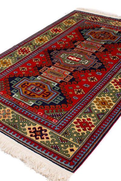 Handgeknoopt tapijt 10265 Kazak wol