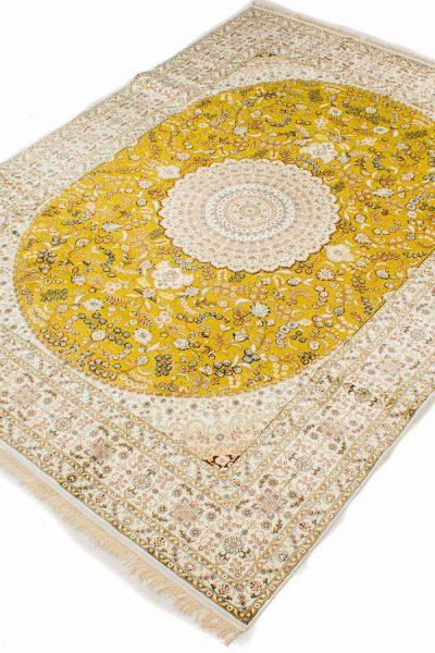 Hereke zijde tapijt goud 286x370 cm 7368 A43 3