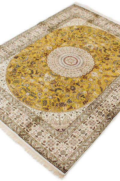 Hereke zijde tapijt goudkleurig 283x370 cm 7367 A433