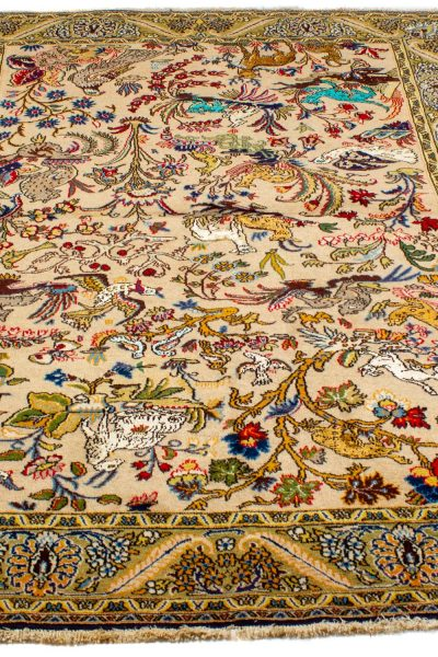 Perzisch tapijt 10259 Ghom handgeknoopt 2
