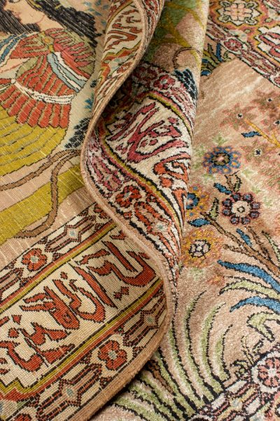 Perzisch tapijt Ghom 10264 zijde handgeknoopt 11