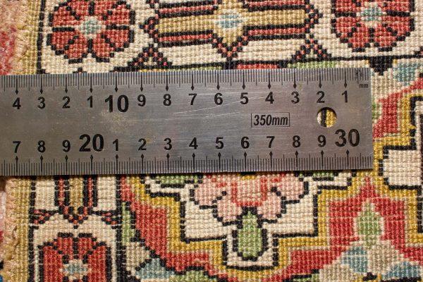 Perzisch tapijt Ghom 10264 zijde handgeknoopt 12 knoopdichtheid