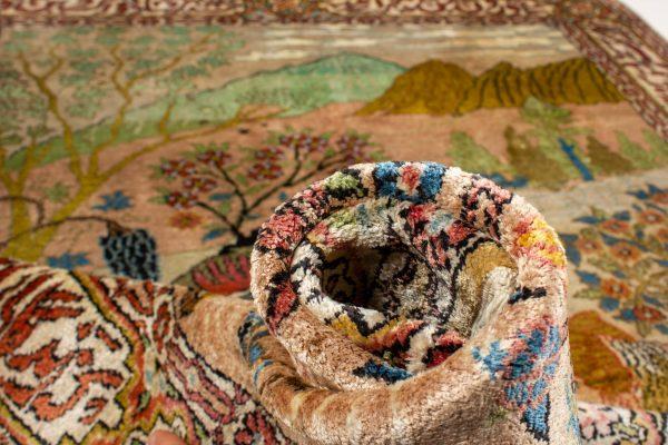 Perzisch tapijt Ghom 10264 zijde handgeknoopt 13