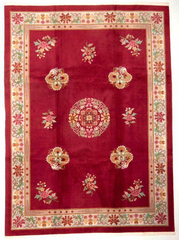 handgekmnoopt tapijt china 7621 rooz