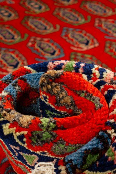 handgeknoopt tapijt 10261 Kazak rood 11