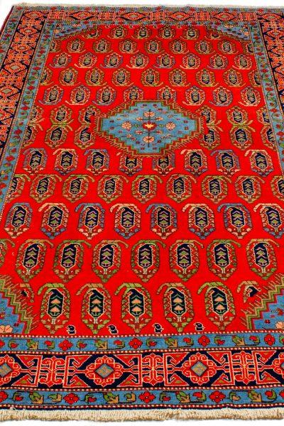 handgeknoopt tapijt 10261 Kazak rood 2