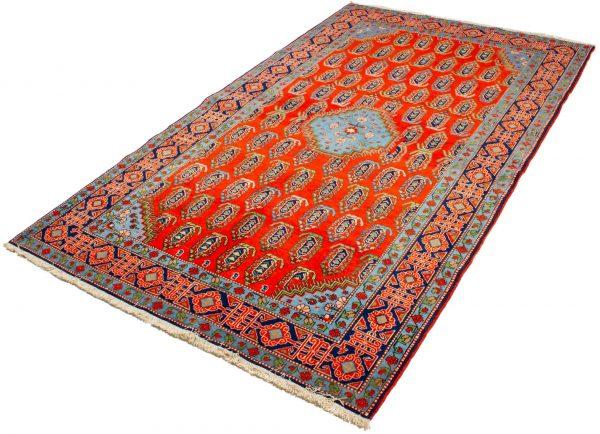 handgeknoopt tapijt 10261 Kazak rood