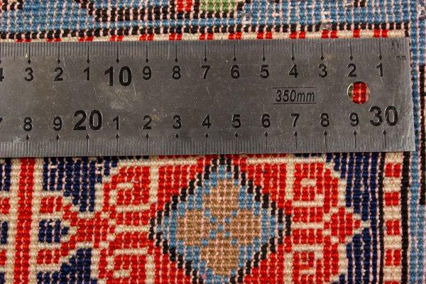 handgeknoopt tapijt 10261 Kazak rood 9 knoopdichtheid