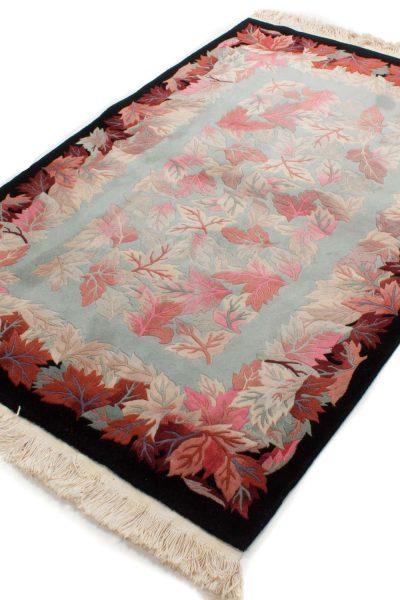 handgeknoopt tapijt china 8253 wol bladeren 1 2