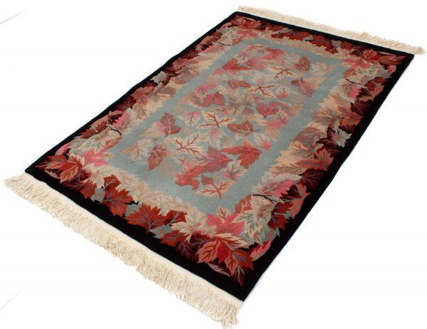 handgeknoopt tapijt china 8253 wol bladeren 2