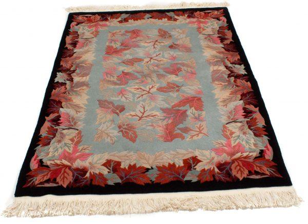 handgeknoopt tapijt china 8253 wol bladeren 3