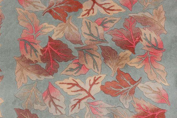 handgeknoopt tapijt china 8253 wol bladeren 4