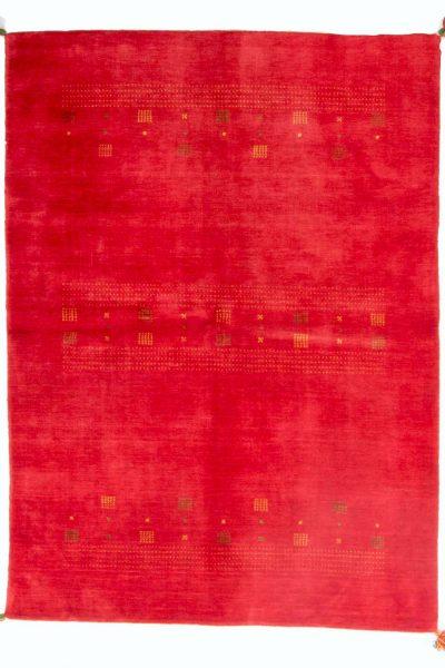 handgeknoopt tapijt lori 8247 oranje wol 1