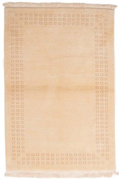 handgeknoopt tapijt nepal 8256 beige wol 1