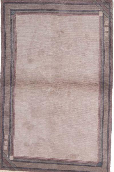 handgeknoopt tapijt nepal 8257 grijs wol 1