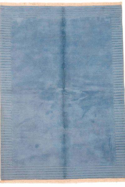 handgeknoopt tapijt nepal 8268 blauw1