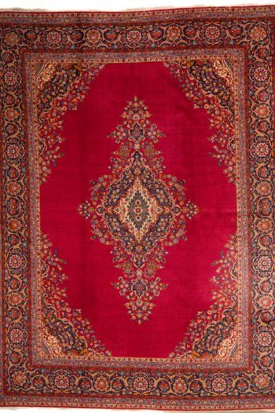 perzisch tapijt kashan 7683 rood handgeknoopt wol 1